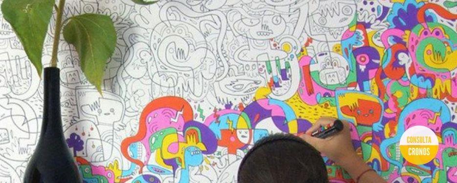 Pintando un puzle de colores
